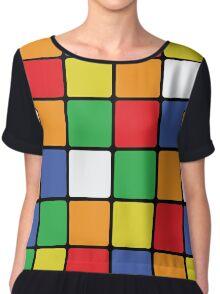 Multi Cube Chiffon Top