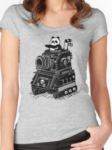 Panda's Skull Tank Vintage Style Women's Fitted Scoop T-Shirt