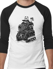 Panda's Skull Tank Vintage Style Men's Baseball ¾ T-Shirt