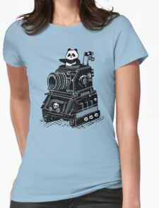 Panda's Skull Tank Vintage Style Womens Fitted T-Shirt