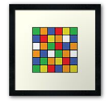 Multi Cube Framed Print