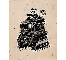 Panda's Skull Tank Vintage Style Photographic Print