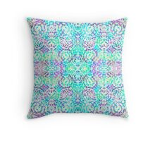 Mandala Mosaic Sun Bleached Throw Pillow