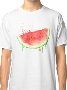 Watercolor Watermelon Classic T-Shirt