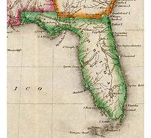 Vintage Map of Florida (1822) Photographic Print