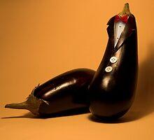 Eggplant in tuxedo by JBlaminsky
