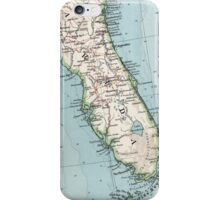 Vintage Map of Florida (1900) iPhone Case/Skin