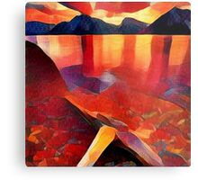 Abstract landscape in red Metal Print