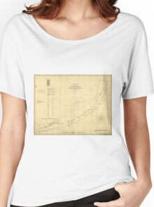 Vintage Map of The Florida Keys (1861) Women's Relaxed Fit T-Shirt