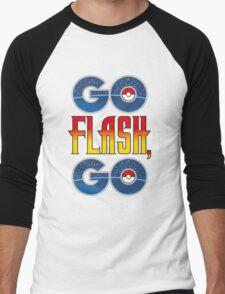 (POKÉMON MASH UP) GO FLASH, GO Men's Baseball ¾ T-Shirt