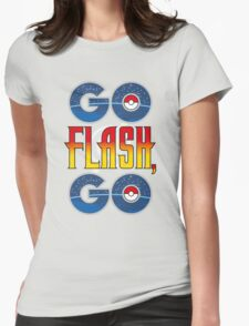 (POKÉMON MASH UP) GO FLASH, GO Womens Fitted T-Shirt