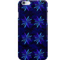 Blue Snowflake Girly Pattern Print iPhone Case/Skin