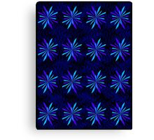Blue Snowflake Girly Pattern Print Canvas Print