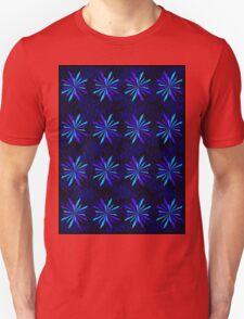 Blue Snowflake Girly Pattern Print Unisex T-Shirt