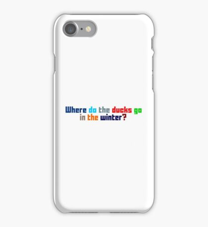 Where do the ducks go? - The Catcher iPhone Case/Skin