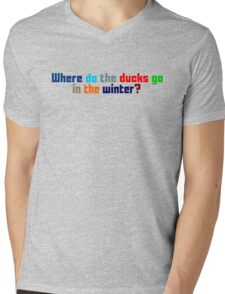 Where do the ducks go? - The Catcher Mens V-Neck T-Shirt