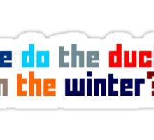 Where do the ducks go? - The Catcher Sticker
