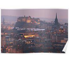 Edinburgh Castle at Dusk Poster