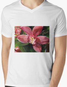 Orchids In Bloom Mens V-Neck T-Shirt