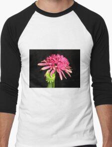 Pink Southern Belle Coneflower Men's Baseball ¾ T-Shirt