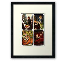 Bilbo and Smaug Jr Framed Print
