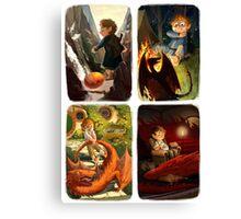 Bilbo and Smaug Jr Canvas Print
