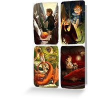 Bilbo and Smaug Jr Greeting Card