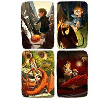 Bilbo and Smaug Jr Photographic Print