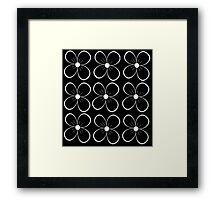 Black flowers Framed Print