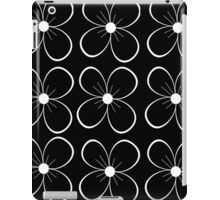 Black flowers iPad Case/Skin