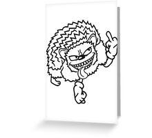 gemein beleidigung böse wichser mittelfinger zeigen hand zeichen rebellisch igel lustig fuck you off  Greeting Card