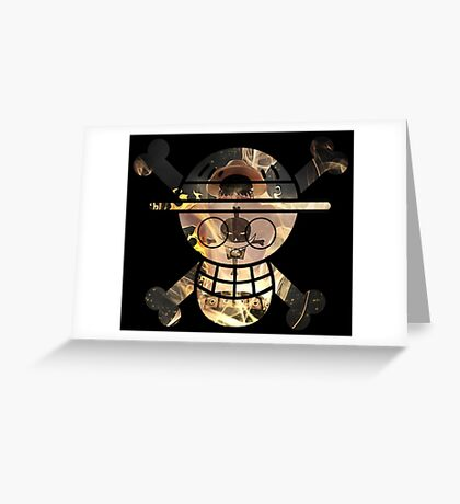 <ONE PIECE> Ace Skull Style Greeting Card