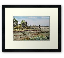 Marsh and Osprey Nesting Platform Framed Print