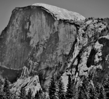 Half Dome in black and white Sticker