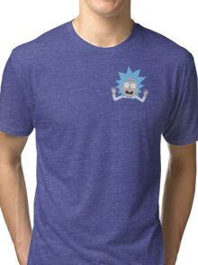 Tiny Rick Pocket Tee Tri-blend T-Shirt