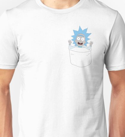 Tiny Rick Pocket Tee Unisex T-Shirt