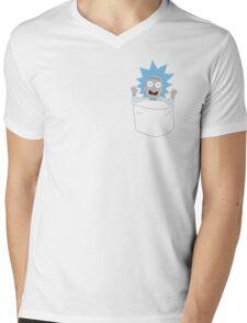 Tiny Rick Pocket Tee Mens V-Neck T-Shirt