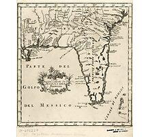 Vintage Map of Florida (1763) 2  Photographic Print