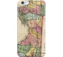 Vintage Map of The Florida Panhandle (1870) iPhone Case/Skin