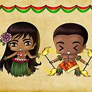 Chibi Hawaiians by artwaste