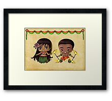 Chibi Hawaiians Framed Print