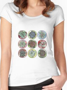Succulent Stained Glass pt. 2 Women's Fitted Scoop T-Shirt
