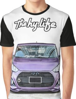Purple Veloster The Hy Life White Graphic T-Shirt