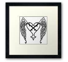Heartless Tattoo Framed Print