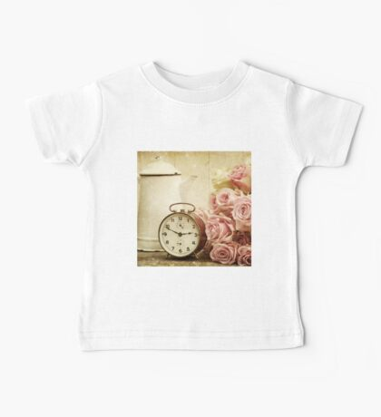 vintage,shabby chic,retro clock,pitcher,grunge,girly,pink,roses Baby Tee