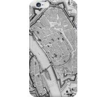 Vintage Map of Frankfurt Germany (1738) iPhone Case/Skin