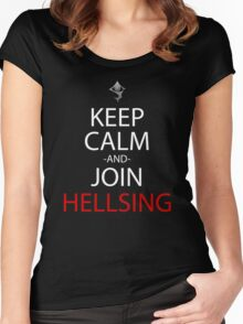 Keep Calm And Join Hellsing Anime Manga Shirt Women's Fitted Scoop T-Shirt