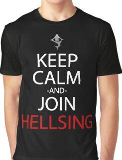 Keep Calm And Join Hellsing Anime Manga Shirt Graphic T-Shirt