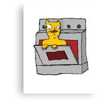 Cat Oven Canvas Print