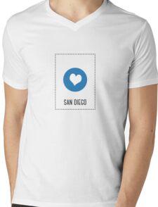 I Love San Diego Mens V-Neck T-Shirt